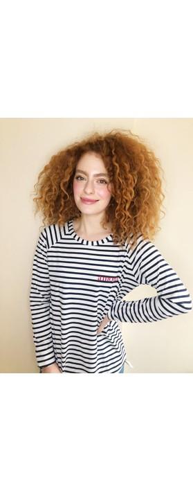 Chalk Tasha Stripe Amour Top Navy / White / Dk Red