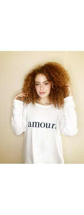 Chalk Robyn Amour Top White / Navy