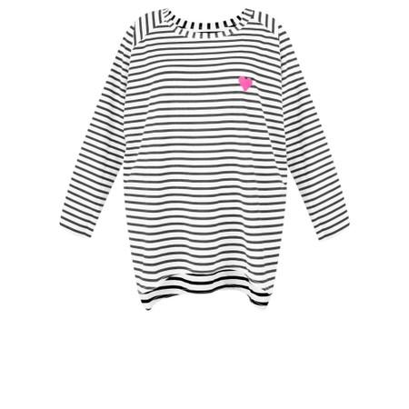 Chalk Robyn Stripe Heart Top - Grey