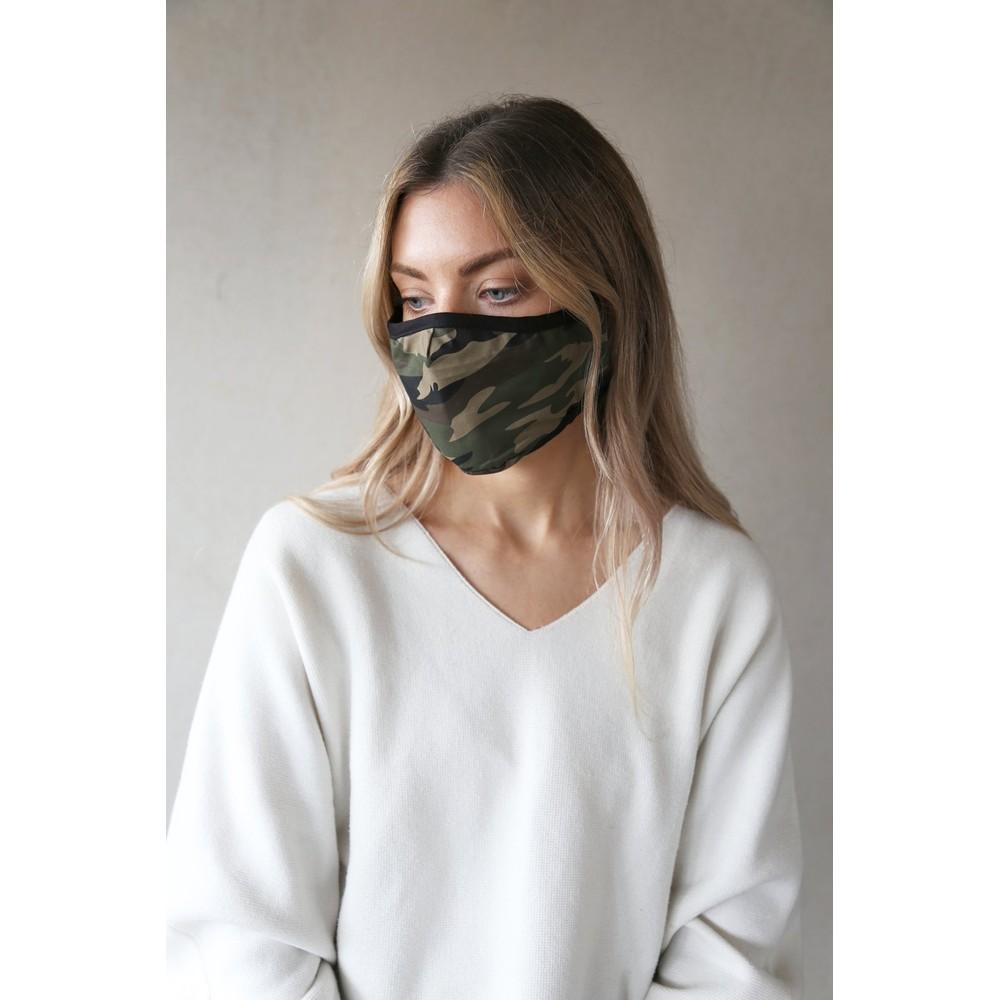 Breathe Organic Cotton Adult Face Mask  ACG01 Green Camo