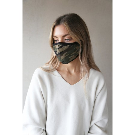 Breathe Organic Cotton Adult Face Mask  - Green