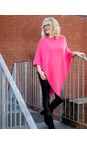 Amazing Woman Magenta Poncho in Supersoft Knit
