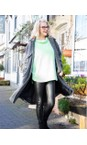 Amazing Woman Black  Stella Faux Leather Leggings