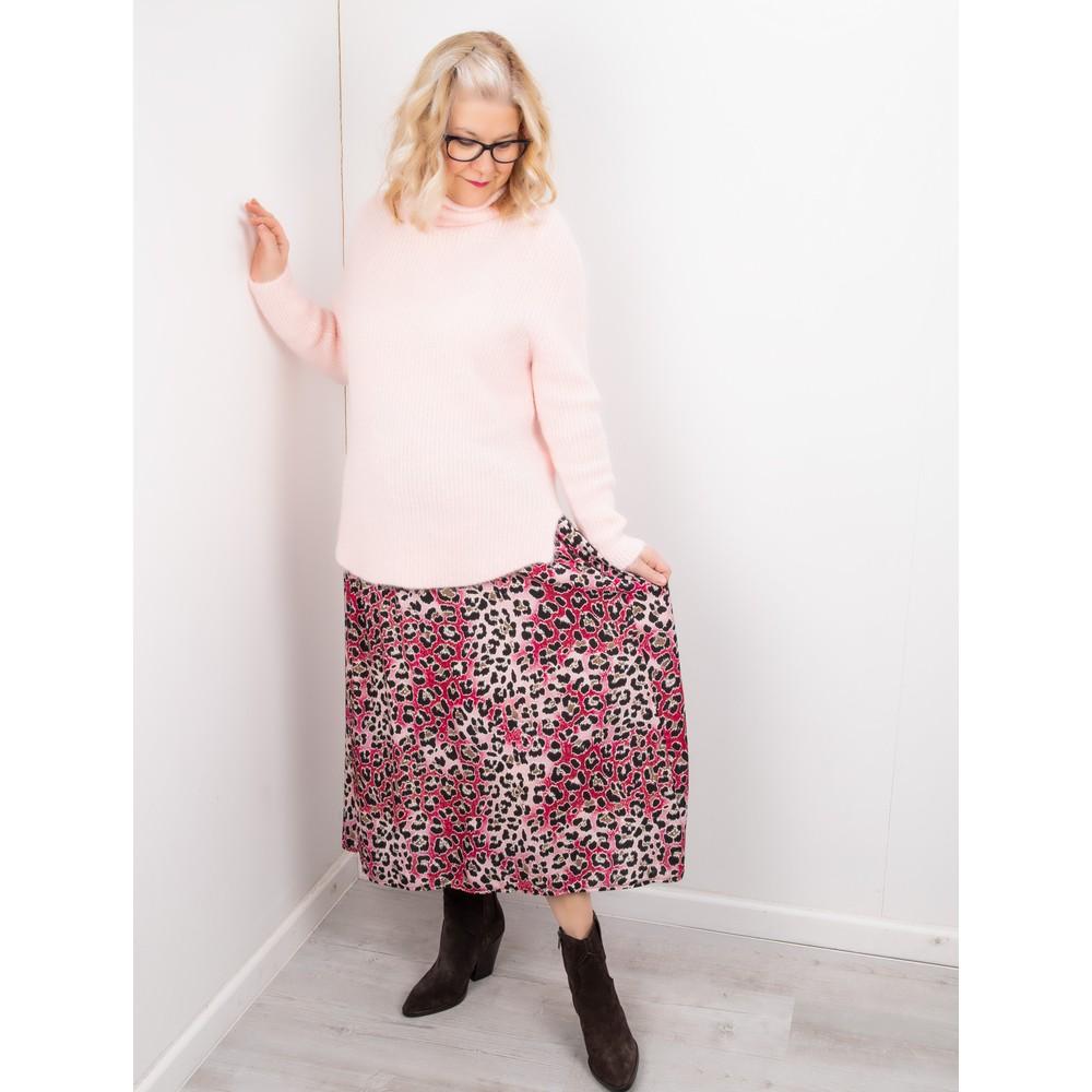 Amazing Woman Santa Midi Skirt Claret / Rose