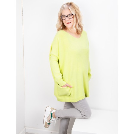 Amazing Woman Caryf X Round Neck Oversized Jumper - Green