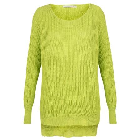 Amazing Woman Vonnie Fine Knit Summer Jumper - Green