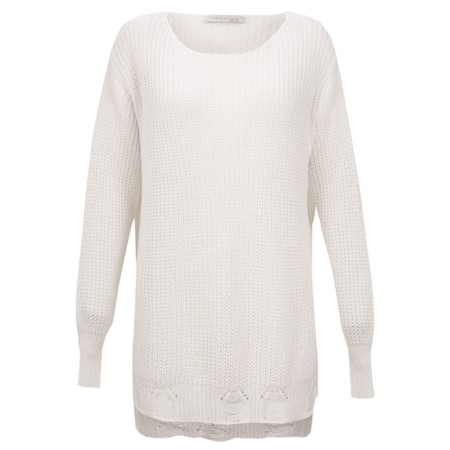 Amazing Woman Vonnie Fine Knit Summer Jumper - White