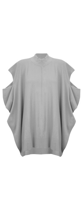 Amazing Woman Tori Poncho Grey Marl