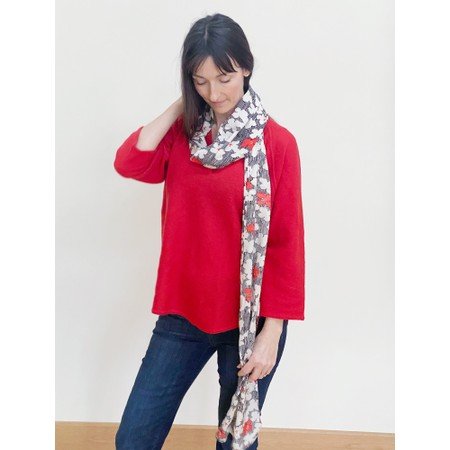 Masai Clothing Along Scarf - Red