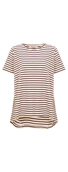 Mama B Rhum R T-Shirt Vino Stripe