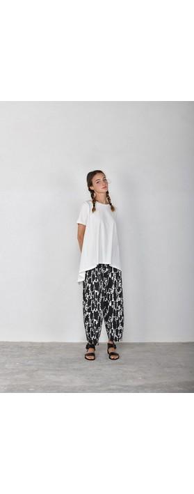 Mama B Bianco S Print Jersey Pant Nero