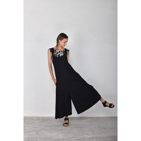 Mama B Prosecco Wide Leg Jumpsuit - Black
