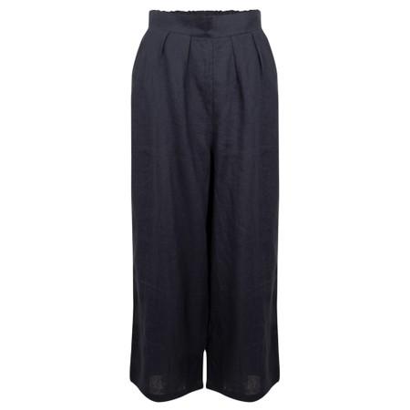 Tirelli Cropped Pocket Linen Pant - Blue
