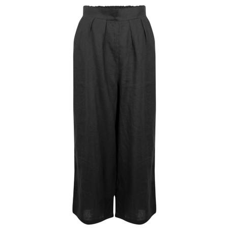 Tirelli Cropped Pocket Linen Pant - Black