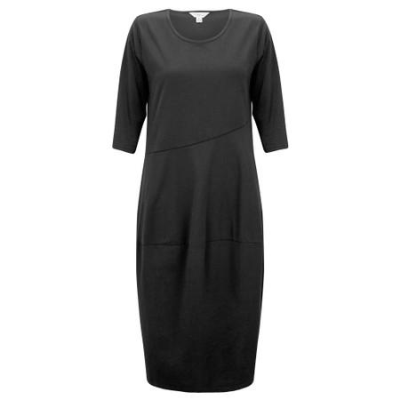 Tirelli Diagonal Seam Balloon Dress - Black
