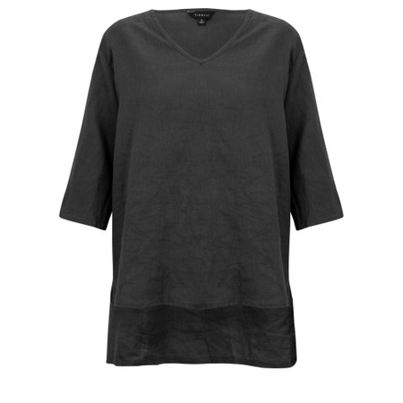 Tirelli Gather Back Blouse - Black