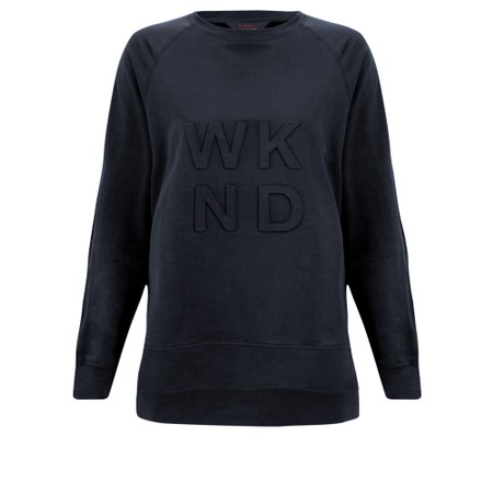 Tirelli Embossed Wknd Sweatshirt - Blue