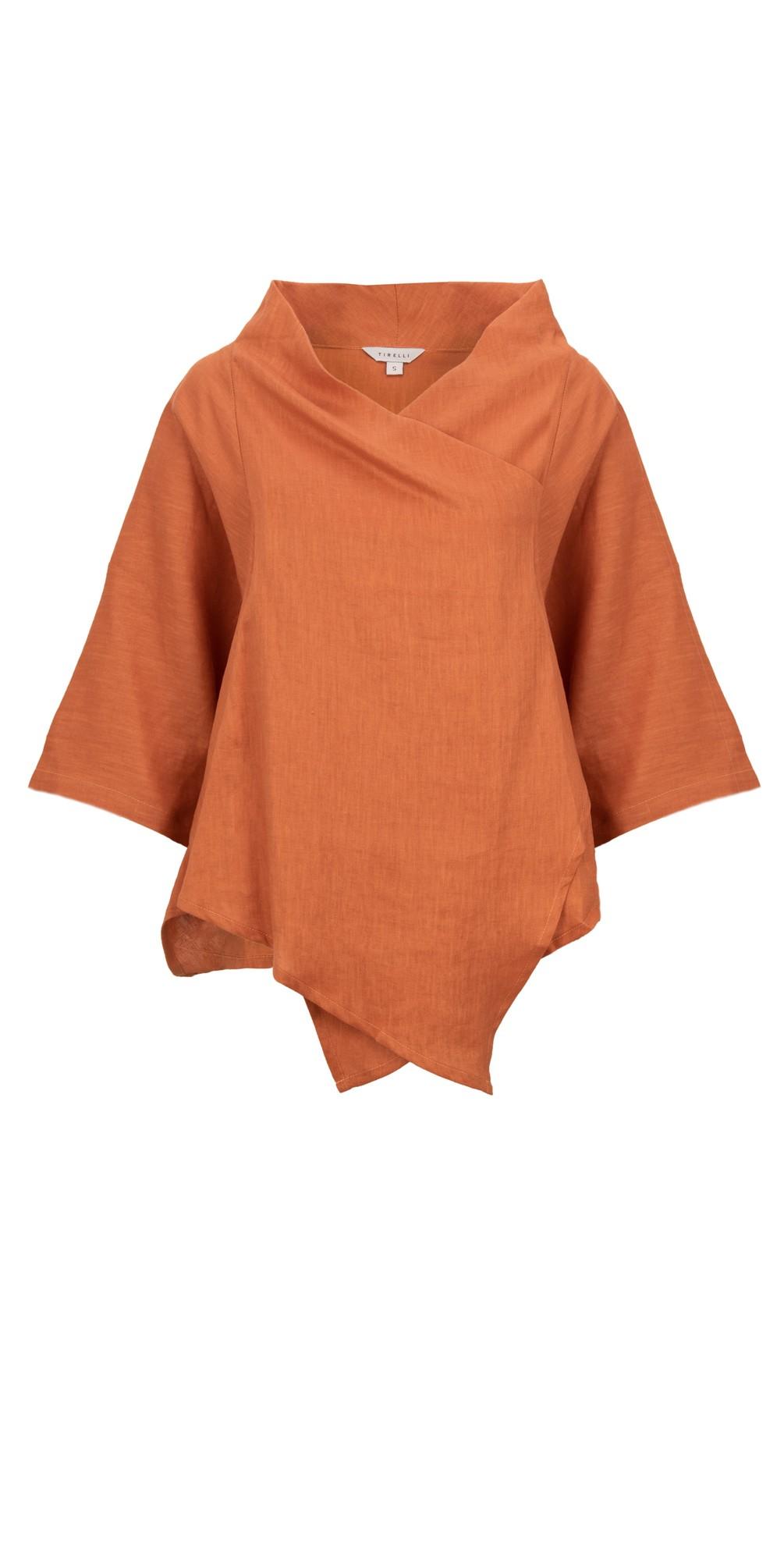 Cowl Neck Linen Top main image