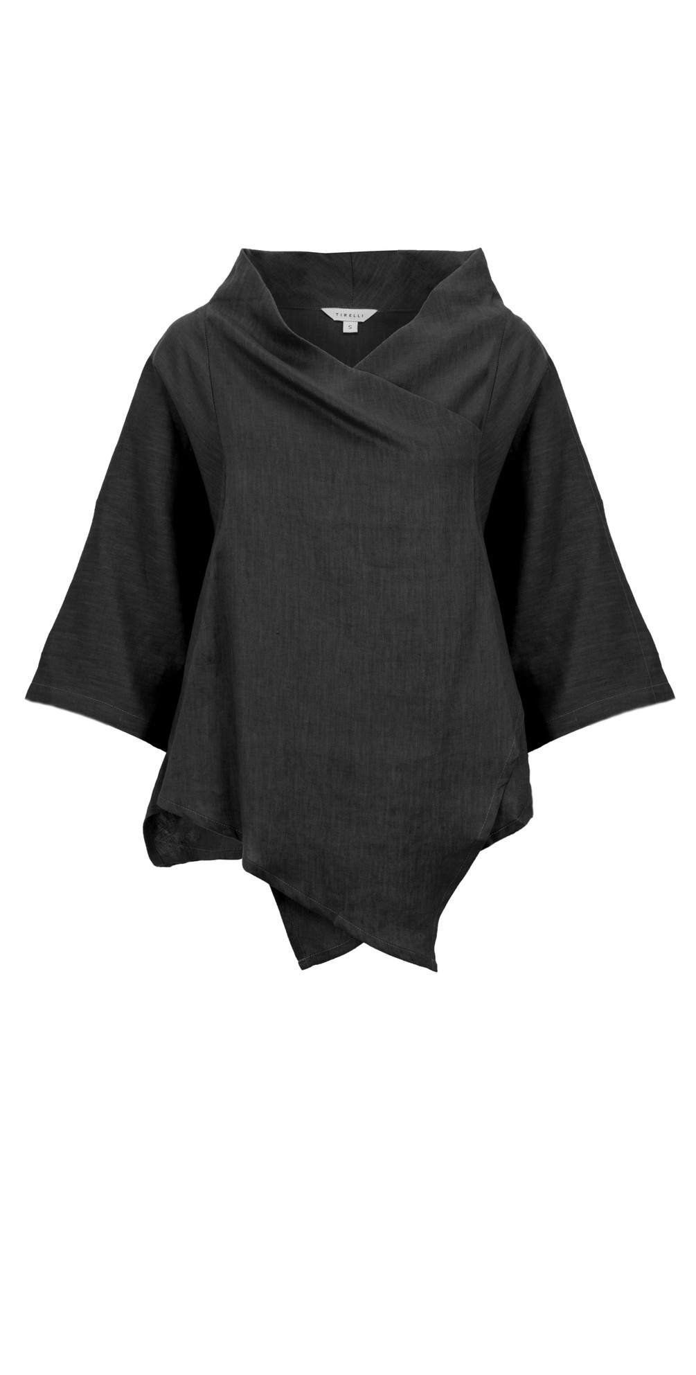 Cowl Neck Linen Top main image