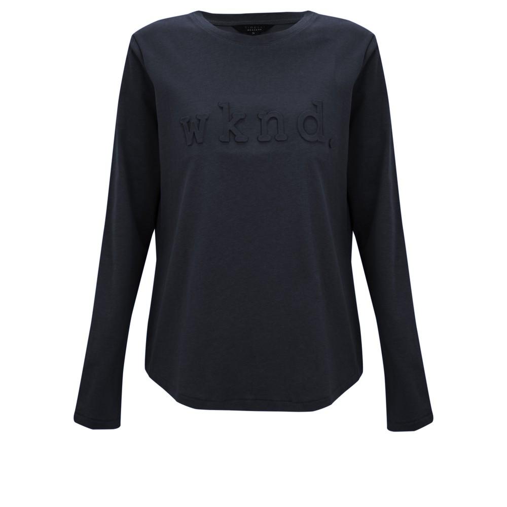 Tirelli Raised Wknd Long Sleeve T-shirt Navy