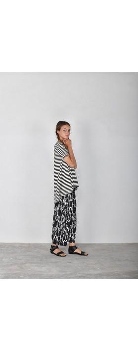Mama B Rhum R T-Shirt Nero Stripe