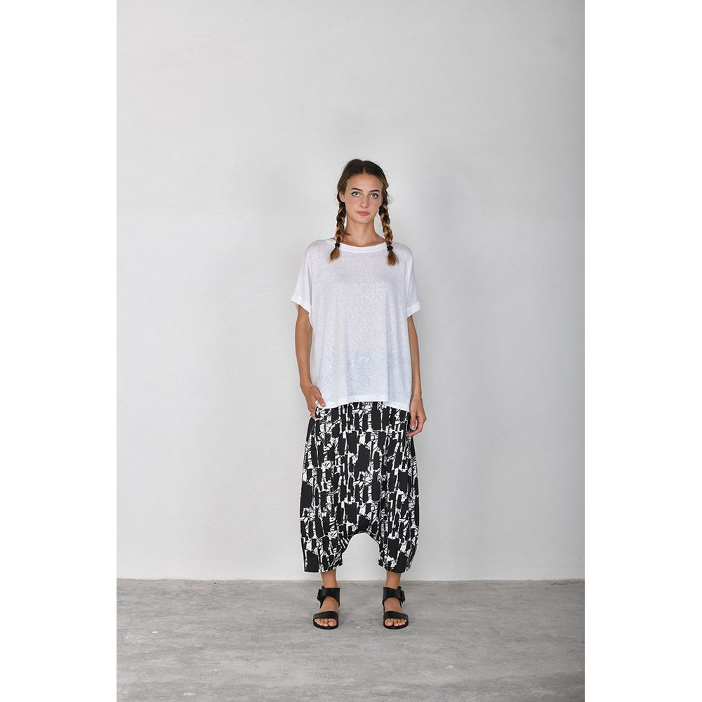 Mama B Botte S Printed Trousers Nero