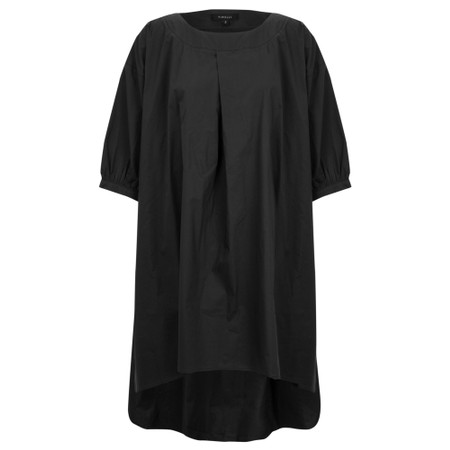 Tirelli Pleat Front Tunic - Black