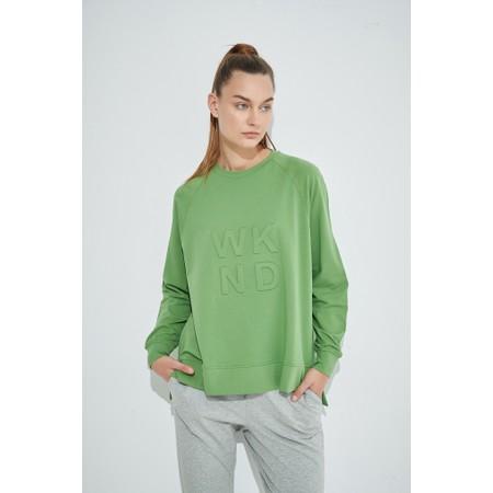 Tirelli Embossed Wknd Sweatshirt - Green
