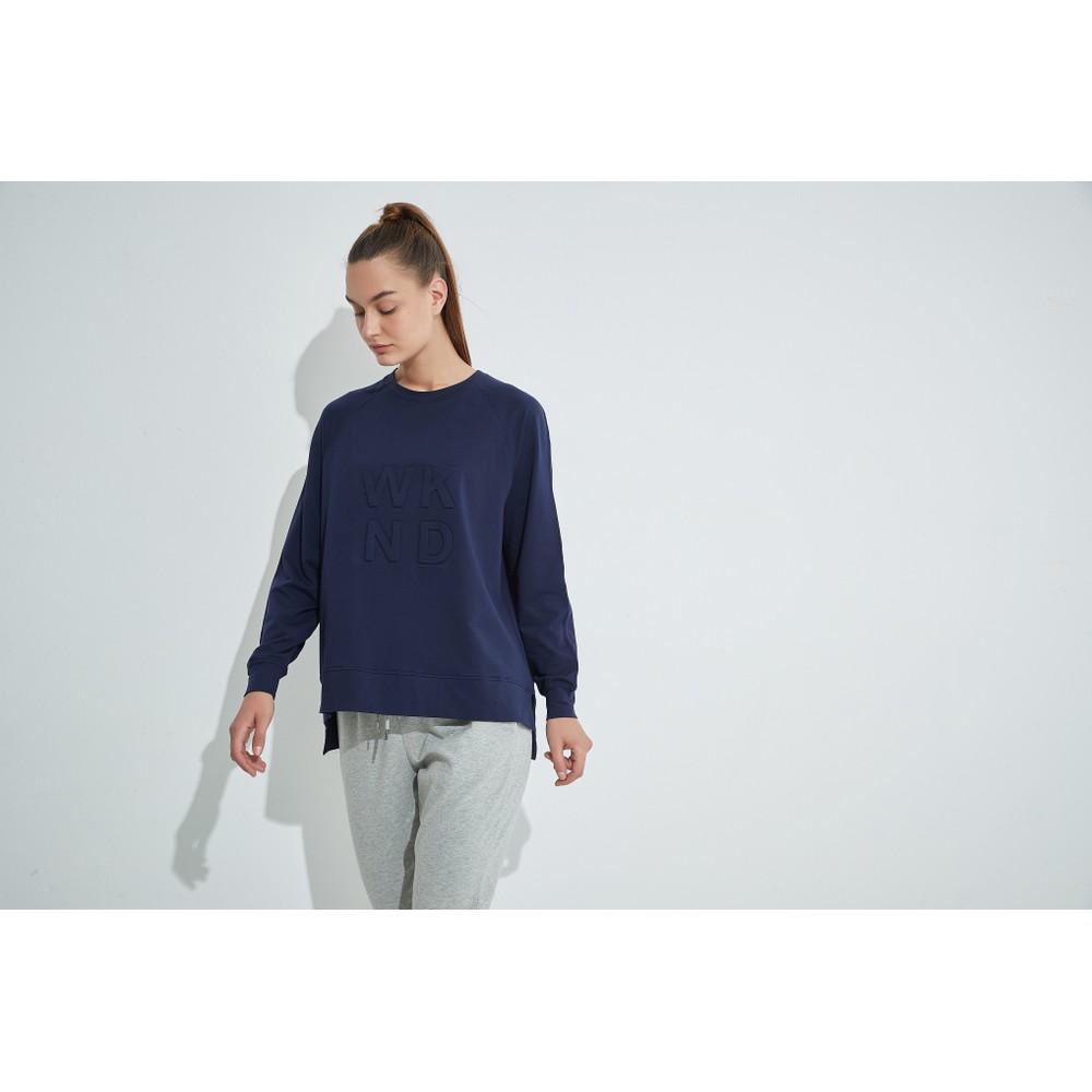 Tirelli Embossed Wknd Sweatshirt Midnight Blue