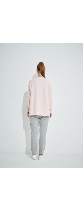 Tirelli Embossed Wknd Sweatshirt Soft Pink