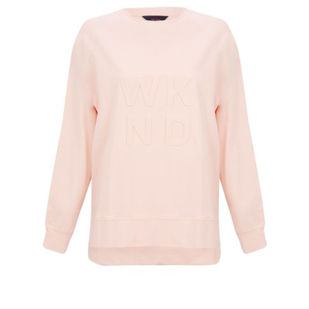 Tirelli Embossed Wknd Sweatshirt - Pink