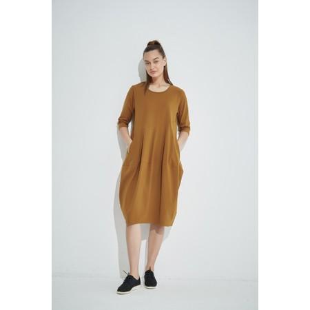 Tirelli Diagonal Seam Balloon Dress - Brown