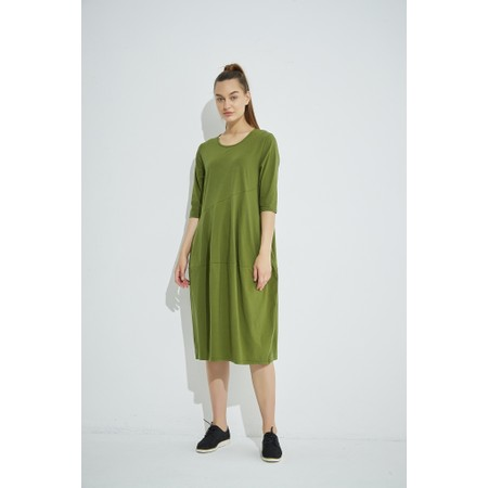 Tirelli Diagonal Seam Balloon Dress - Green