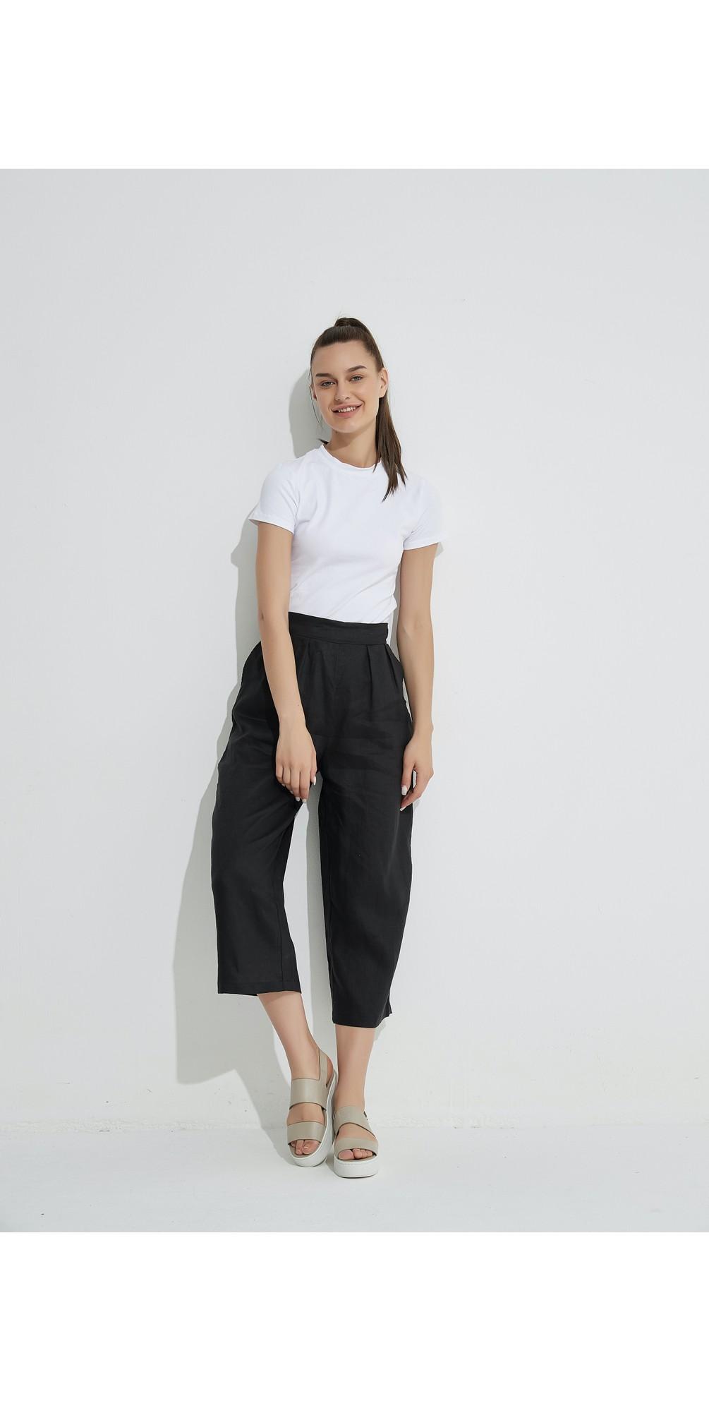 Cropped Pocket Linen Pant main image