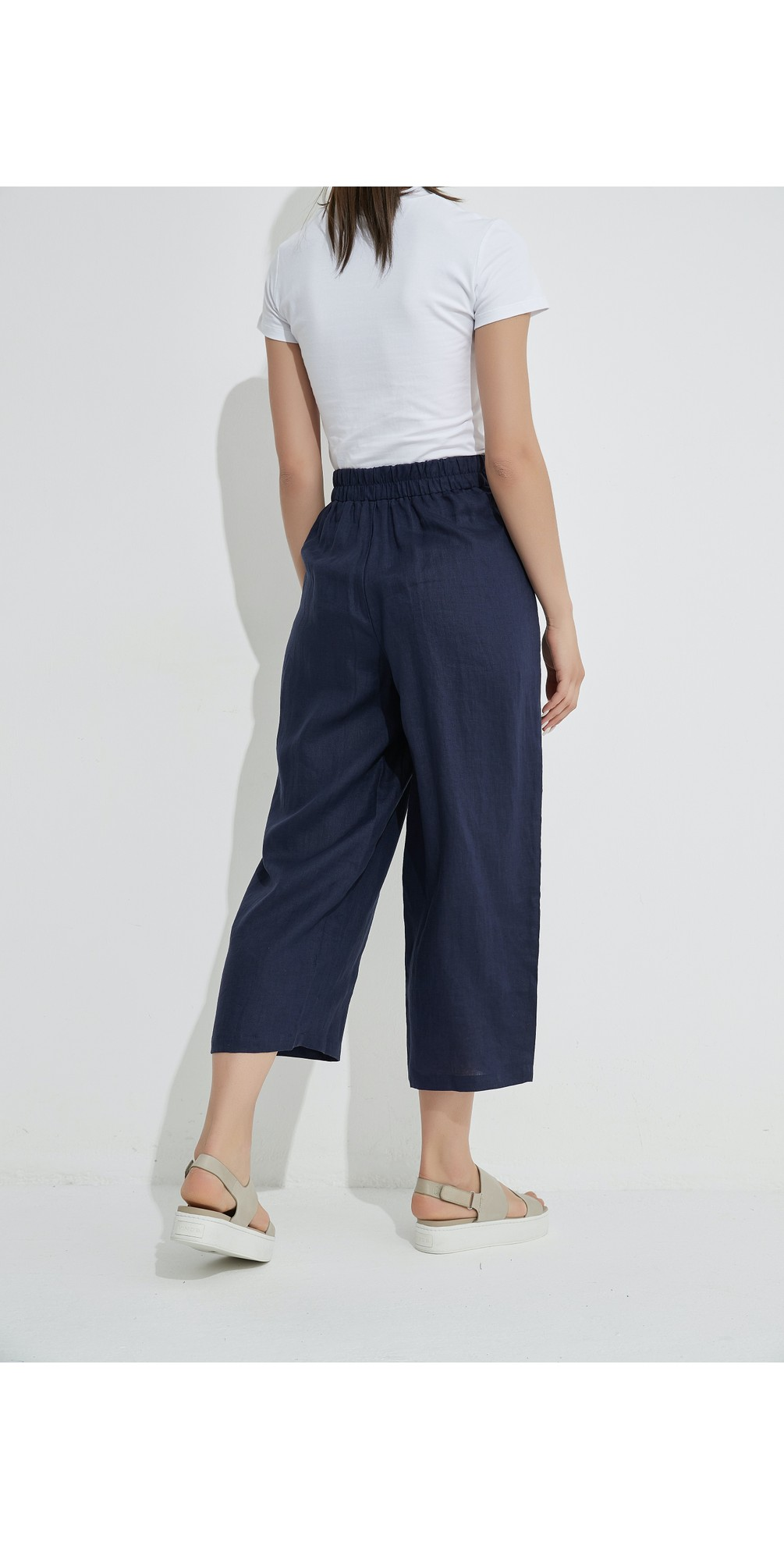 Cropped Pocket Linen Pant main image