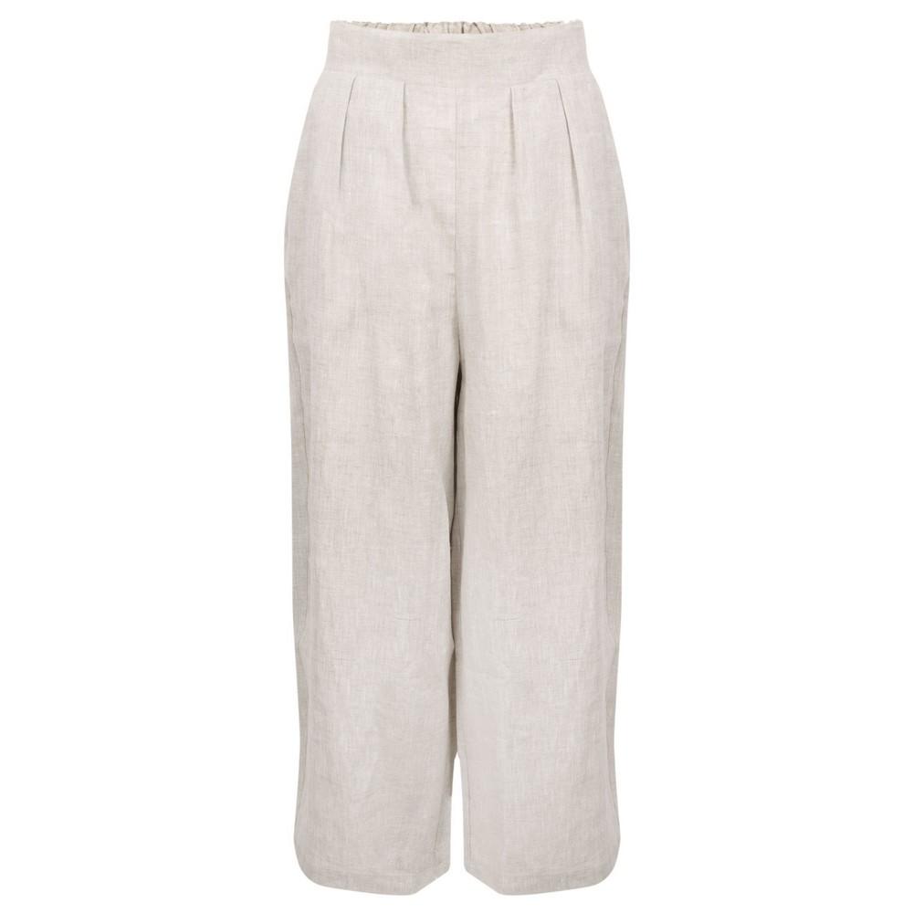 Tirelli Cropped Pocket Linen Pant Neutral