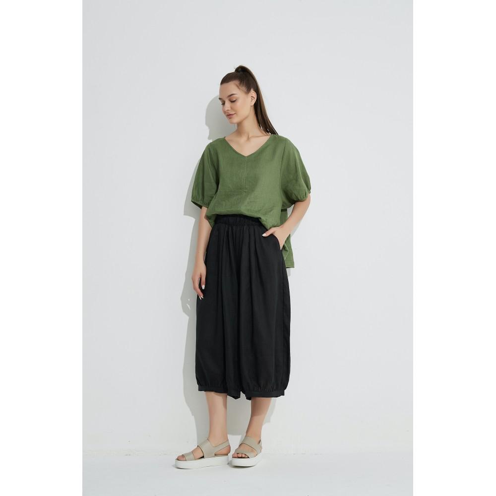 Tirelli Billow Linen Pant Black