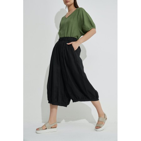 Tirelli Billow Linen Pant - Black
