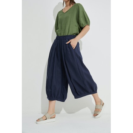 Tirelli Billow Linen Pant - Blue