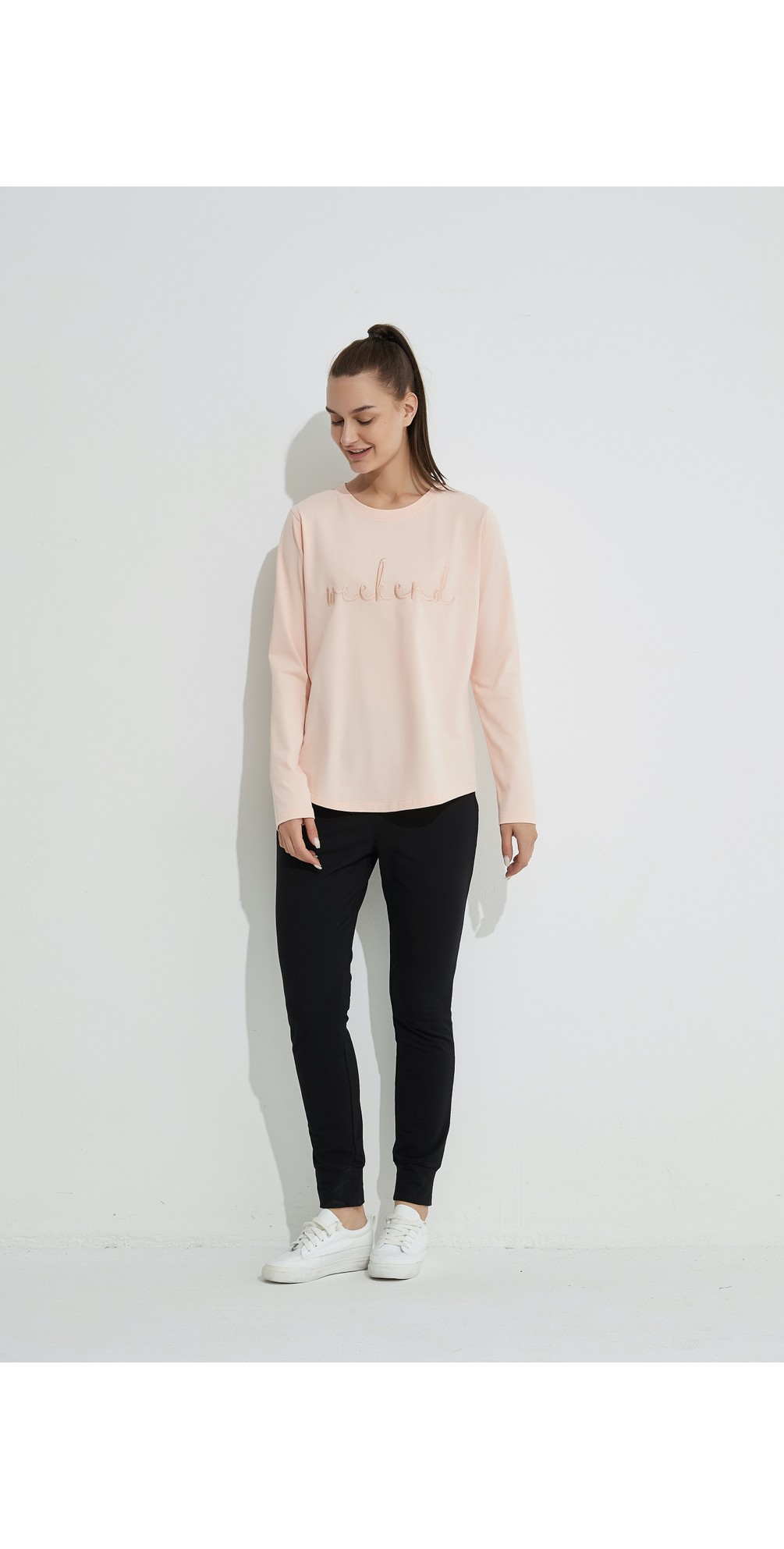 Embroidered Weekend Tee main image