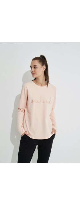 Tirelli Embroidered Weekend Tee Soft Pink