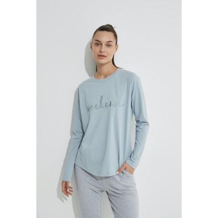 Tirelli Embroidered Weekend Tee - Blue