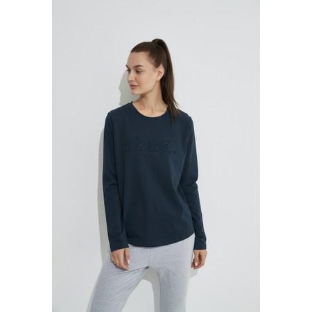 Tirelli Raised Wknd Long Sleeve T-shirt - Blue