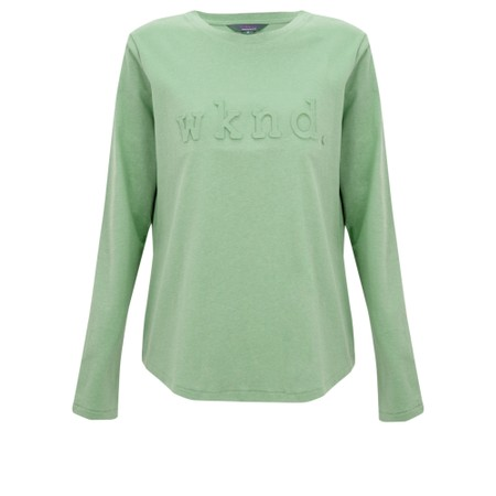 Tirelli Raised Wknd Long Sleeve T-shirt - Green