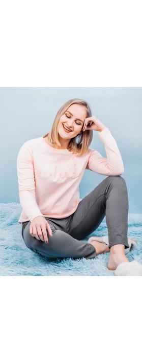 Chalk Robyn Jersey Pant Charcoal