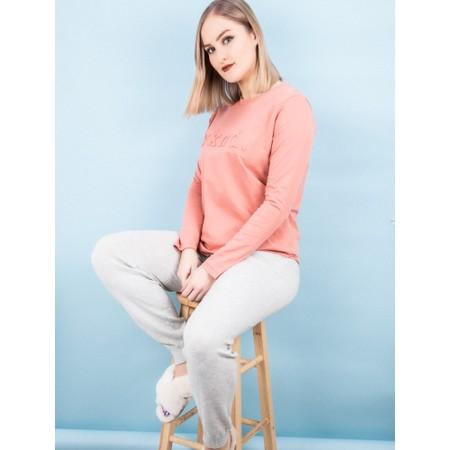 Tirelli Raised Wknd Long Sleeve T-shirt - Pink