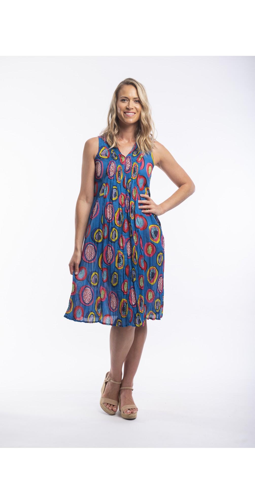 Catalonia V Pleated Sleeveless Dress main image