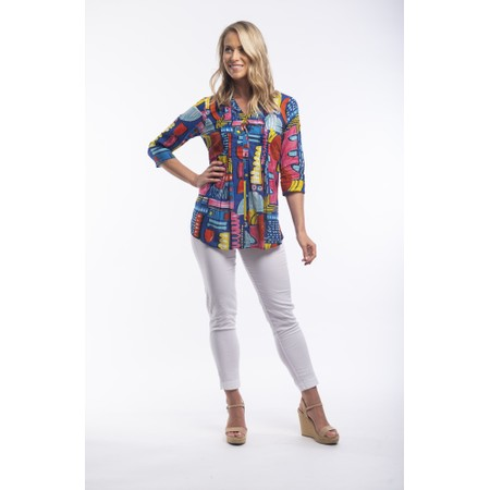 Orientique Catalonia Pleat Blouse - Multicoloured