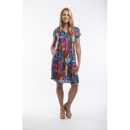 Orientique Catalonia Pleated Dress - Multicoloured