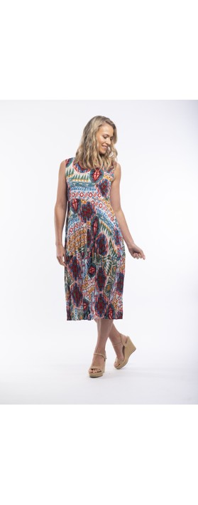 Orientique Santiago Bubble Dress Bright Multi